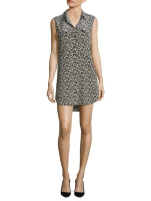 Buy Equipment Slim Signature Floral-Printed Silk Shirtdress online with Australia wide shipping