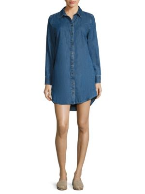 Carmine Denim Shirtdress