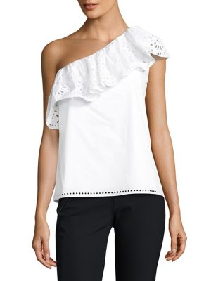 Maple One-Shoulder Cotton Top