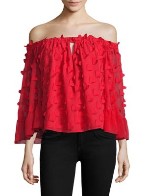 Love Conquer Off-The-Shoulder Top