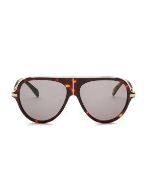 BALMAIN | 60MM Aviator Sunglasses | Goxip