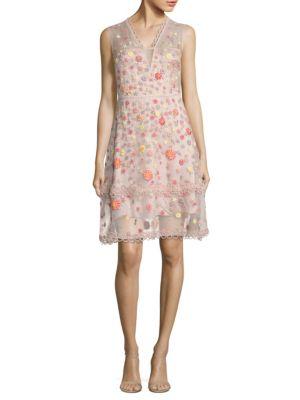 Jayla Embroidered Silk Organza Dress