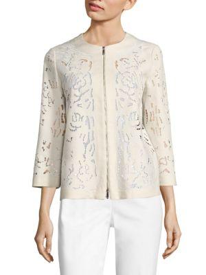 Hadara Embroidered Linen Jacket