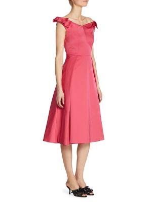 Radzmire Bow-Detail Wool & Silk Portrait Sheath Dress