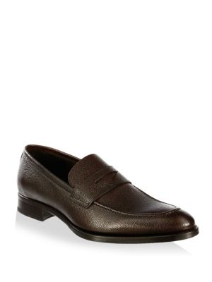 James Leather Penny Loafers