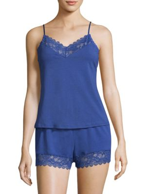 Two-Piece Scalloped Camisole and Shorts