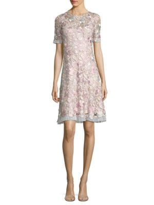 Laura Floral Lace A-Line Dress
