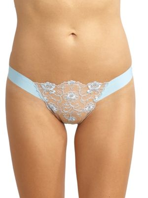 Embroidered Lace Thong by Commando
