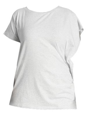 Ruched Stripe Tee