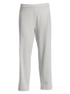 Plus Stretch-Cotton Interlock Wide-Leg Pants