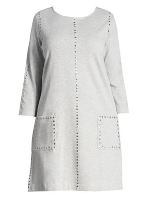 Studded Cotton Interlock Dress