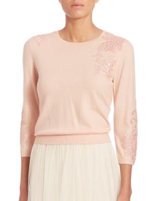 Paisley Embellished Sweater