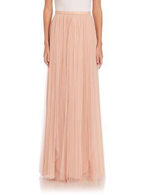 JENNY YOO Arabella Tulle Maxi Skirt in Cameo Pink