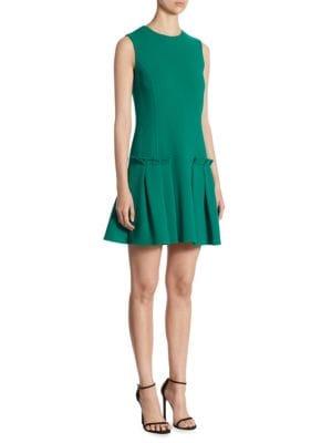 Wool Pleated Dress
