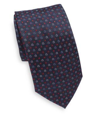 Gancini Dots Silk Tie