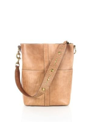 Ilana Studded Leather Hobo Bag