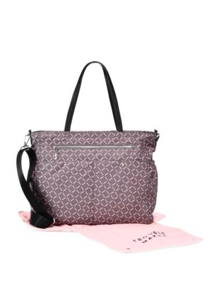 MILLY MINIS PRINTED DIAPER BAG, GRAY