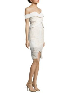 Empire Opera Off-the-Shoulder Embroidery Dress