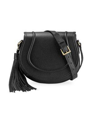 Jenni Pebbled Leather Saddle Bag