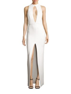 Taegan Cutout Crepe Gown