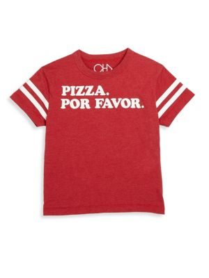 Toddler's, Little Boy's & Boy's Pizza For Favor Tee