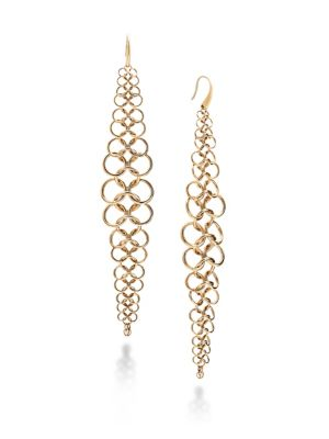 michael kors chainmail drop earrings