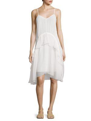 Cynthia V-Neck Ruffled Dress