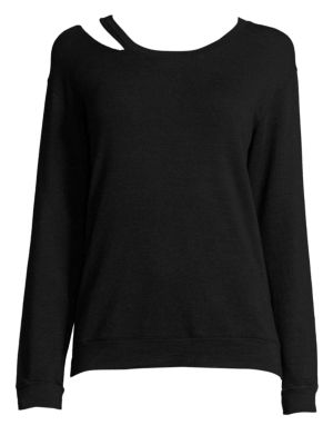 Slash Cutout Sweatshirt