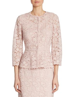 Lace Button Front Jacket