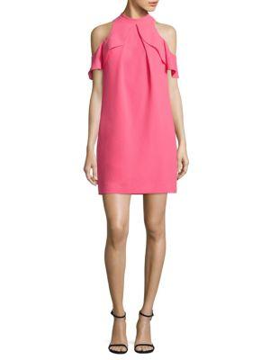 Amado Cold-Shoulder Crepe Dress