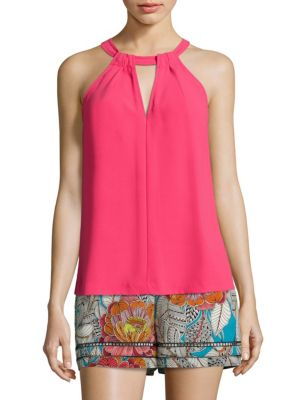 Quince Crepe Halter Top by Trina Turk