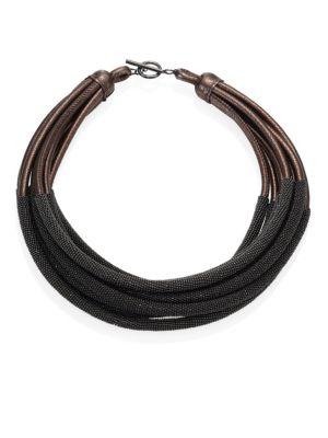 Tubular Leather Necklace