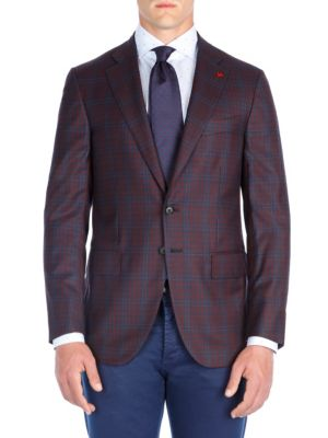 Gingham Wool Sportcoat