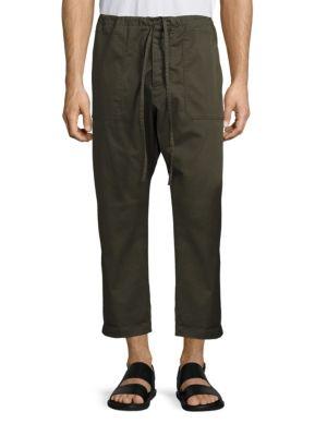 Regular-Fit Cropped Drawstring Pants