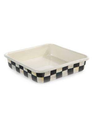 Courtly Check Enamel Baking Pan