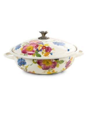 "Flower Market Casserole Dish/15.5"""