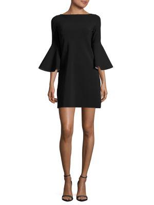 Natalie Bell-Sleeve Shift Dress