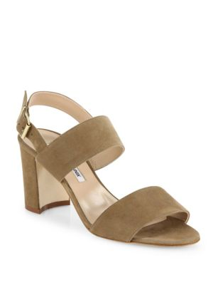 Khan 70 Suede Block Heel Slingback Sandals