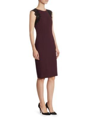 Lace Jersey Dress