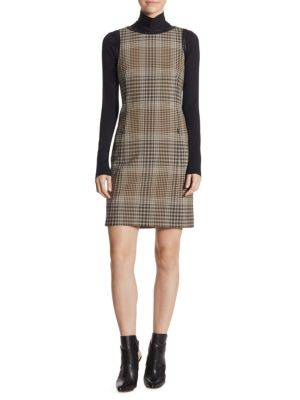 Checked Jersey Stretch Dress
