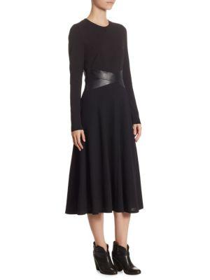 Jersey Leather Dress