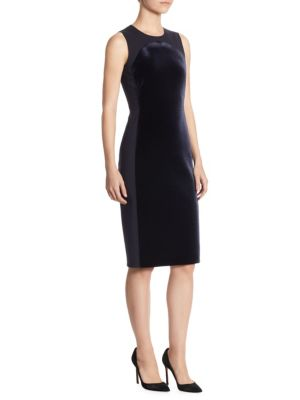 Velvet Jersey Sheath Dress
