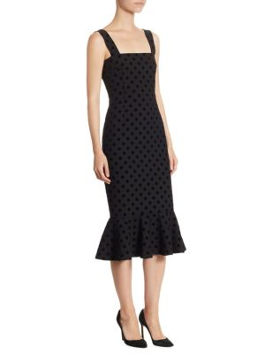 Velvet Polka Dot Dress