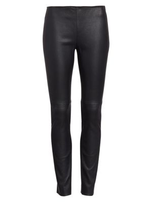 LAMBSKIN LEATHER & JERSEY PANTS