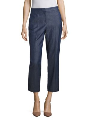 Allery Cropped Straight-Leg Pants by BOSS