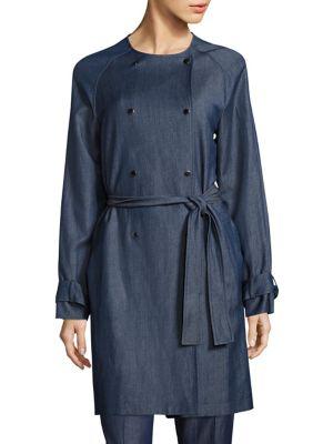 Calrehna Denim Trench Coat