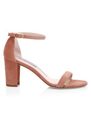 Nearlynude Block-Heel Suede Sandals