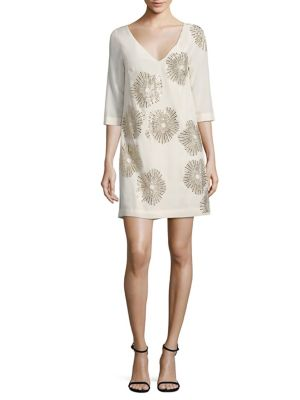 Buy Trina Turk Glitterati Embellished Silk Shift Dress online with Australia wide shipping