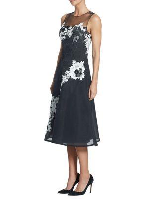 Illusion Lace & Neoprene Dress
