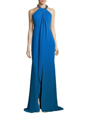 Toga Embellished Neck Gown